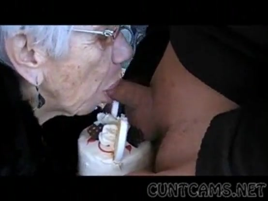 Granny sucks boys cock Granny Sucks Boys Cock For Her Birthday More At Cuntcams Net