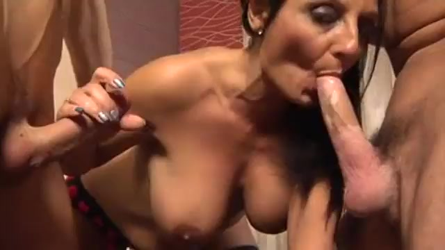 Italian milf in double