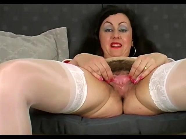British Mature Stockings Solo