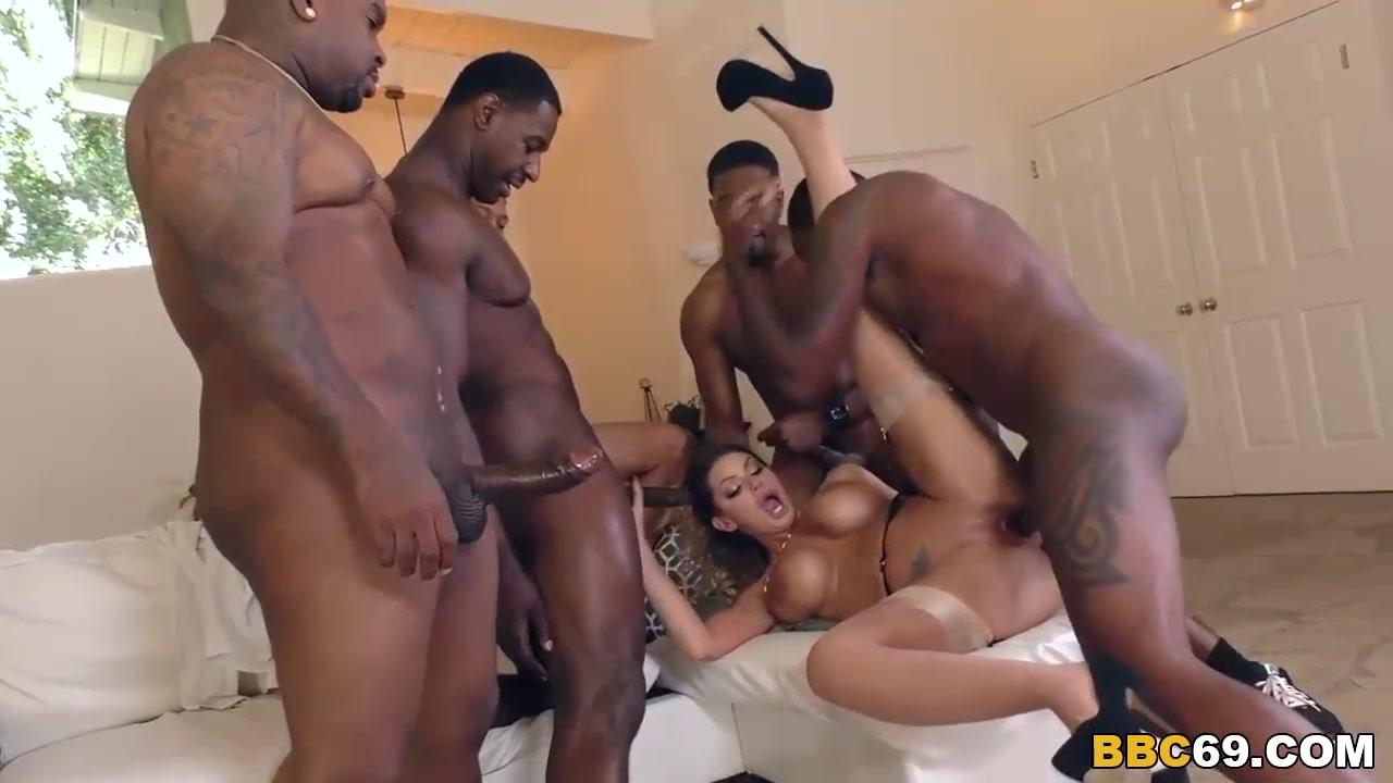 Black Hard Rough Sex Gangbang